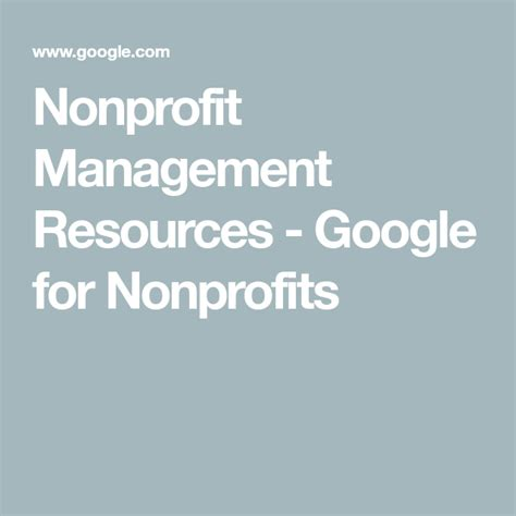 @ Nonprofit Management Resources   Google For Nonprofits.